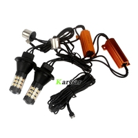 2x PY21W BAU15S LED Canbus Error Free Turn Signal Bulb Dual Color White Amber Yellow 1156 4014 60SMD DRL Lights 150 degree