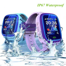New GPS+LBS Children Smart Watch Waterproof Kids Watch Support SIM Card Baby Kids Wristwatch with SOS Call PK Q90 Q50