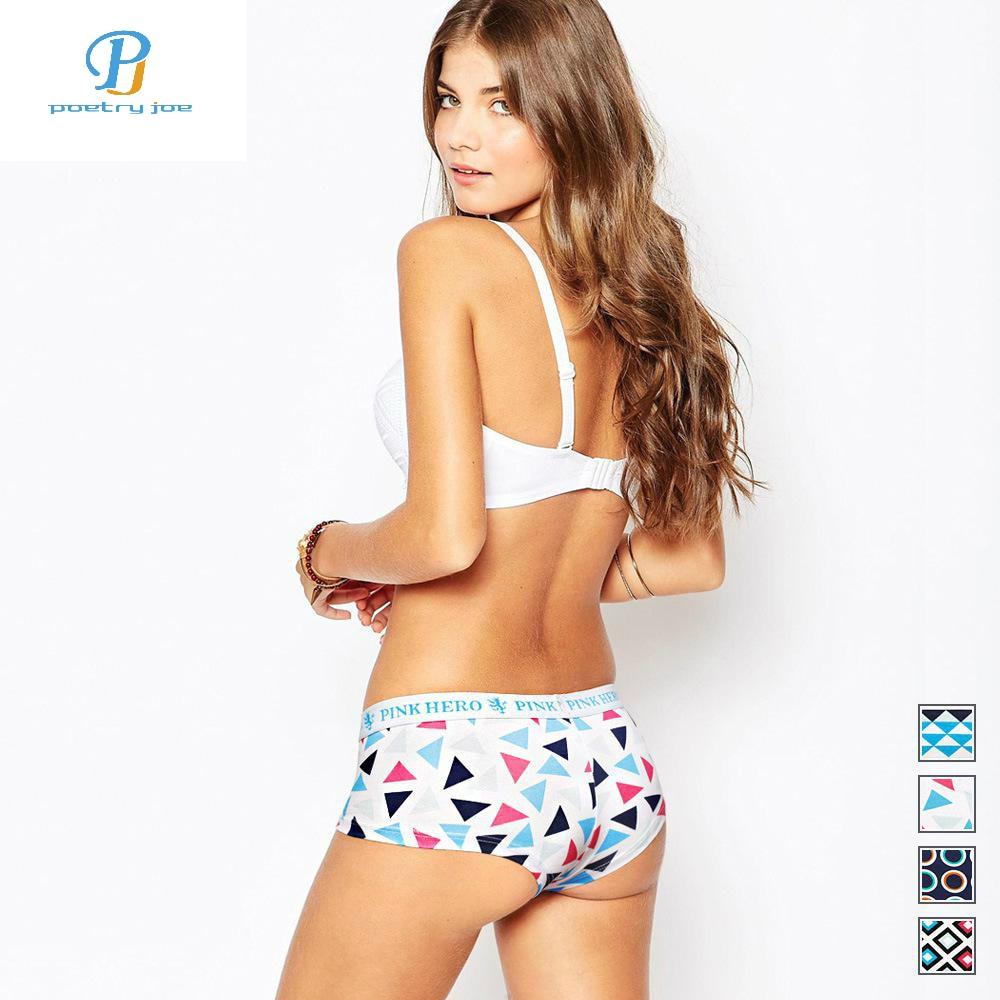 Pink Heroes New Women Underwear Briefs Gorgeous Color Printing Women Underwear Cotton Lingerie Sexy Briefs   Panties   Cute