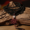 Natural de Madera De Sándalo Budista Buda Meditación Pulsera 216 Prayer Bead Mala Collar de Las Pulseras Para Hombres Joyería de Las Mujeres 6mm