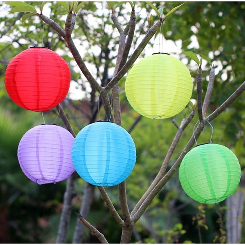 Outdoor Garden Solar Fairy Lights LED Festival Lanterns Hanging Solar Christmas Lights 7 colors Landscape Lighting