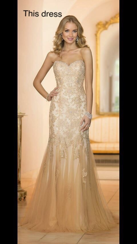 Elegant Sweetheart with Lace Appliques Beads Champagne and White Mermaid Wedding Dress Vestido De Novia 2015
