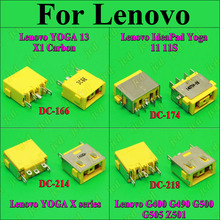 ChengHaoRan 1X DC Power Jack Connector for LENOVO G400 G490 G500 G505 Z501 DC JACK 5pin OGA 13 X1 Carbon yellow Square PORT