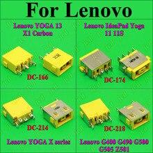 ChengHaoRan conector de alimentación CC para LENOVO G400 G490 G500 G505 Z501, conector CC de 5 pines, pega 13x1, Puerto cuadrado amarillo de carbono