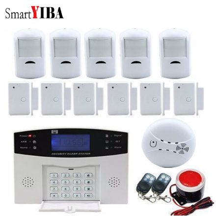 SmartYIBA Wireless SMS Calling Home Burglar Security GSM Alarm System Voice Prompt 99+7 Wired/Wireless Defense Zones Home Alarm SmartYIBA Wireless SMS Calling Home Burglar Security GSM Alarm System Voice Prompt 99+7 Wired/Wireless Defense Zones Home Alarm