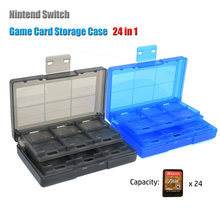 TF Card Storage Box Case Switch 24 In 1 Game Holder Durable Dustproof Protection can CSV(China)
