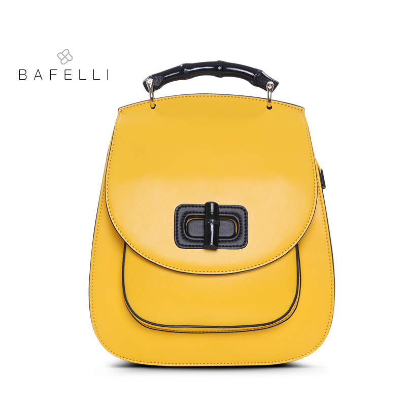 e0e03c8fa065 BAFELLI womens backpack Lemon yellow leather backpacks travel bag mochilas  mujer 2019 for teenager girls backpacks women bag-in Backpacks from Luggage  ...