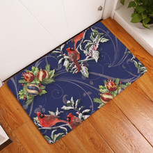 Flannel Floor Mats Merry Christmas Printed Bedroom Living Room Carpets Cartoon Pattern Mat for Hallway Anti-Slip Tapete(China)