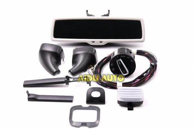 Auto headlight switch Rain Light Wiper Sensor Antiglare Anti glare Dimming Rear View Mirror For VW