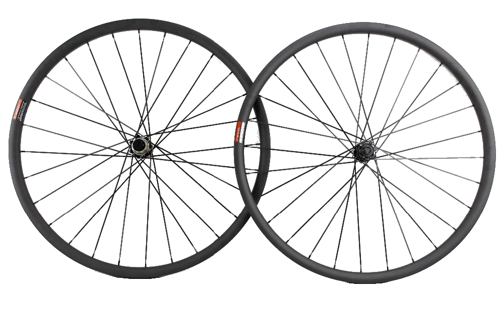 29ER MTB XC racing Tubeless ready carbon wheels 30mm width 25mm depth Hookless mountain bike carbon wheelset 29er 650b hookless carbon mtb wheelset width 30mm 35mm 40mm tubeless mountain bike thru axle wheelset front 12 100 rear 12 142