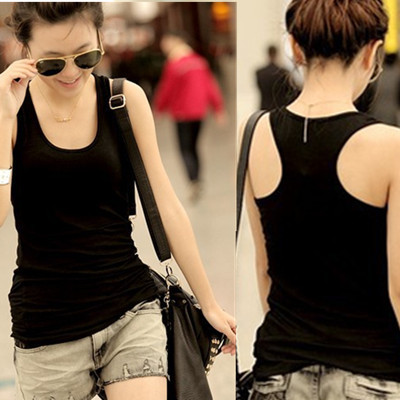 NEW 2017 fashion women t shirt casual woman clothes ladies vest solid tees o-neck summer T-shirt sleeveless tee polo shirts 6901
