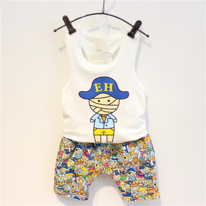 2016 summer Europe fashionable The boy - Haren pants pants vest T-shirt suit two pieces of children's birthday gift low price plastic spare parts mould for auto products