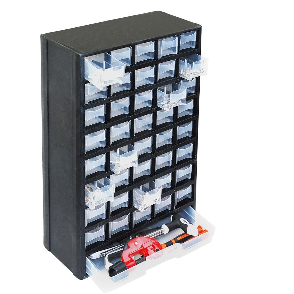 Craft storage drawers plastic - Wofo 41 Grid Craft Cabinet Tool Case Drawer Plastic Parts Storage Hardware 12 2 5 4 19 3 Inch