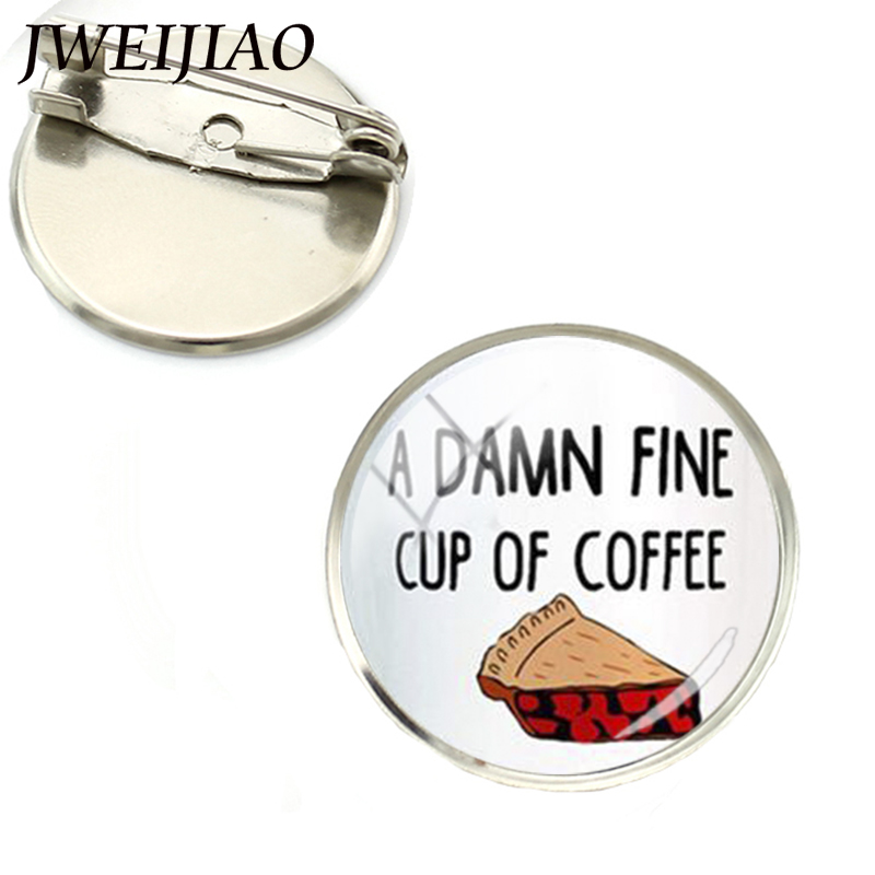JWEIJIAO 2017 Hot Sale Pin Wholesale Fashion Twin For Peaks Inspired Brooch David Lynch Movie Brooches Handmade Gifts Ns211