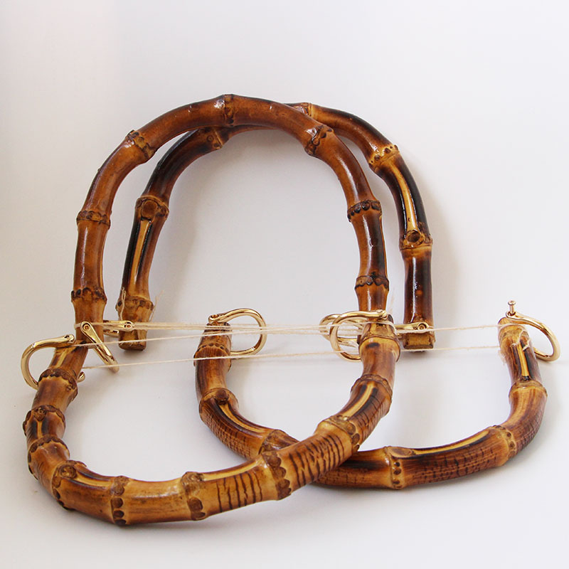 17*14cm Bamboo Purse Frame Bag Handle Accessories Bag Strap Wholesale Chains Sac Belt Bamboo Purse Handle China Factory Clasp