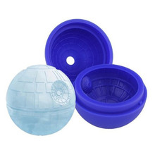 Creative Silicone Ice Cube Mold Wars Death Star Round Ball IceCube Mold Tray Desert Sphere Mould DIY Cocktail Forma De Gelo