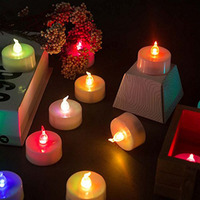 24Pack Color Changing LED Tea Lights, Flameless Tealight Candles with Rainbow Colors No Flickering Light for Party and Christmas