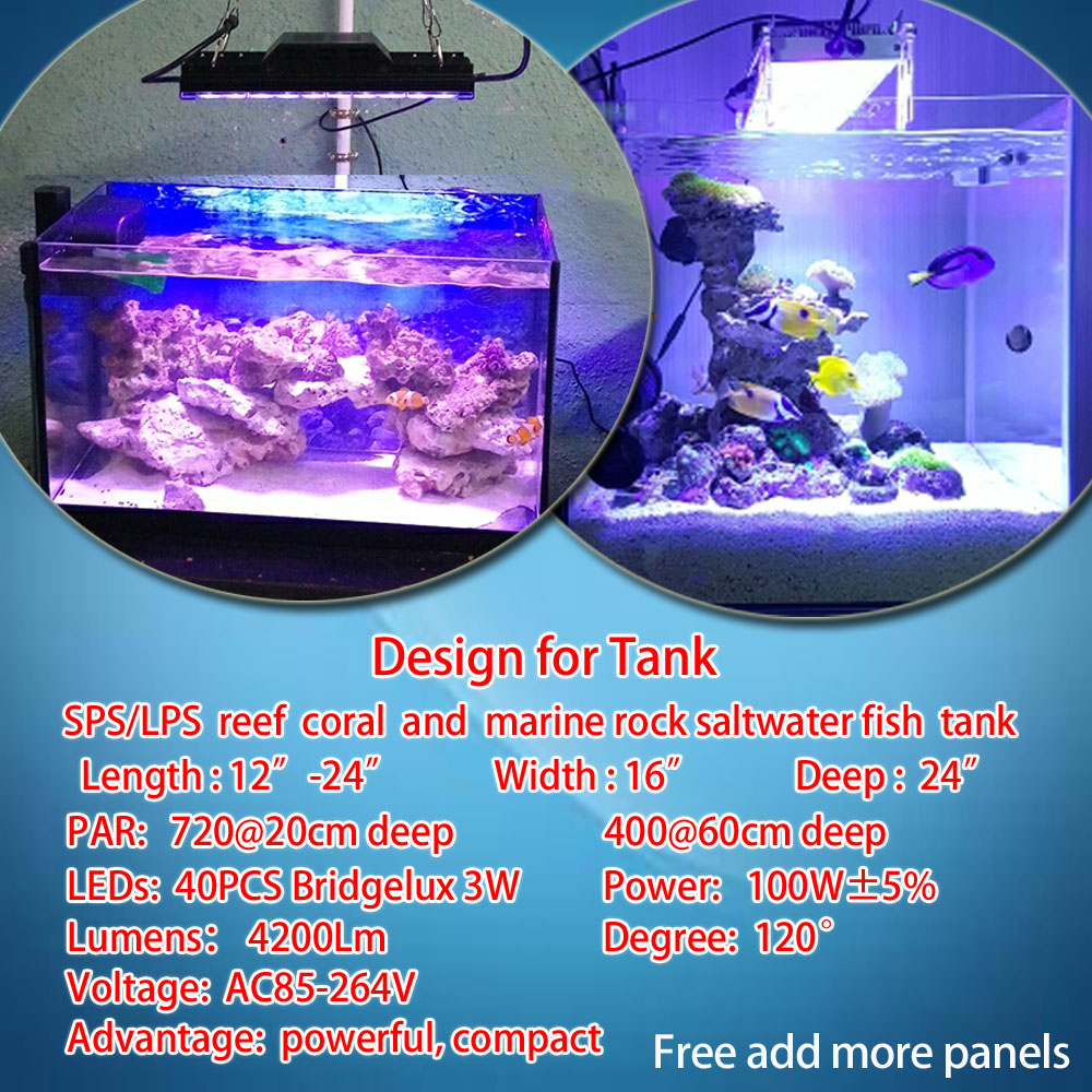 free shipping programmable popbloom aquarium led lighting for marine fish coral reef tank full spectrum powerful dsuny lamp in lightings from home garden