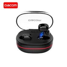 DACOM K6H Pro Bluetooth наушники 5,0 с микрофоном настоящие беспроводные стерео наушники-вкладыши мини-гарнитура для iPhone Xiaomi huawei