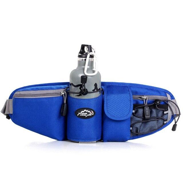 2cb856cd76be2 Spor Bel Çantası Erkekler Kadınlar Paketi Açık Su Şişesi bel çantası Koşu  Yürüyüş Bisiklet Bisiklet Pannier