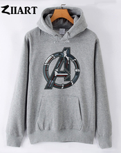 avengers age of ultron simplistic logo couple clothes girls woman female autumn winter cotton fleece hoodies
