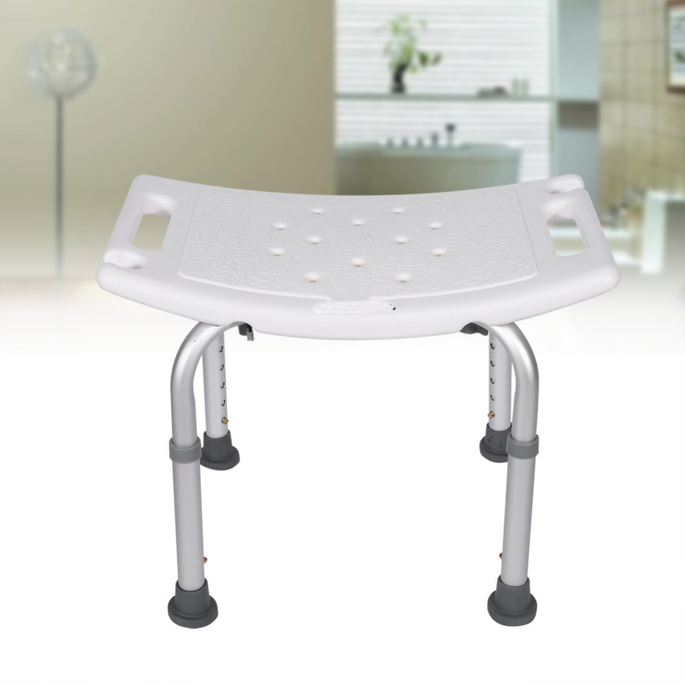 The Sturdy Shower Stool Bath Aid Seat Chair Without Back Adjustable Height  Convenient Bathroom Assembled Seat