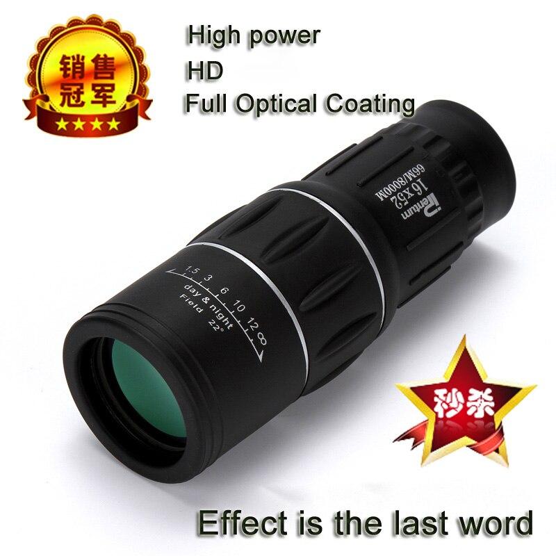 Азота водонепроницаемый все-оптические зеленый фильм монокуляр телескоп 16x52 бинокль для путешествий Охота Горячая распродажа! Бесплатная доставка