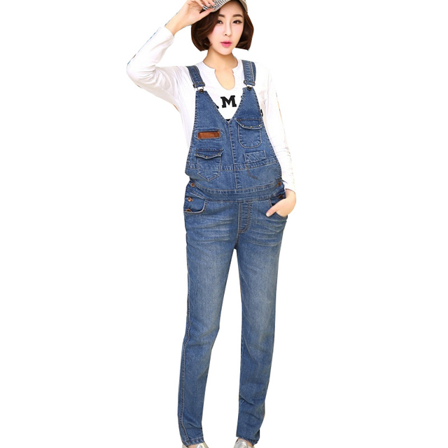 4b86fca69e12e Blue Maternity Denim Overalls Rompers Pregnant Women Adjustable Waist  Suspender Jeans Jumpsuit Pregnancy Causal Bottoms Bib Pant