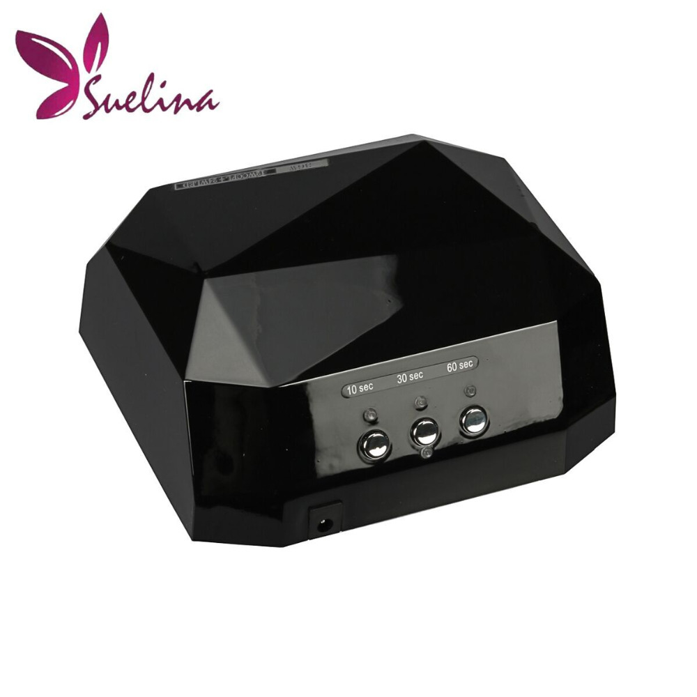 Suelina Nail Dryer&FREE SHIPPING With Package!LEDUV Lamp 36W Gel Nail Machine Dry Nails Diamond Shaped Curing for UV Gel Nail