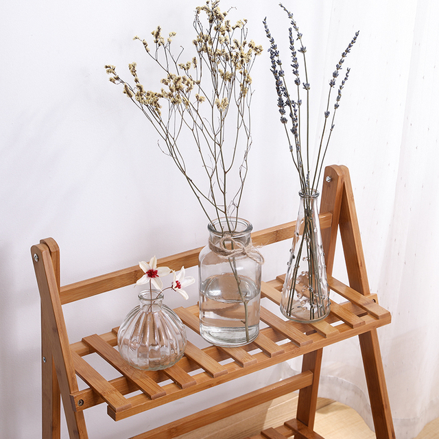 Hydroponic Plants Vase Simple Creative Glass Vase Home Decorative Table Transparent Flower Vase 4