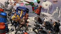 Doctor Who Star Trek Crossover Home Decoration Canvas Poster