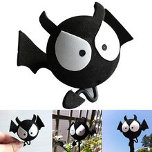 1pcs Car Antenna Cute Black Bat Evil Vampire Car Antenna Pen Topper Aerial Ball Decoration Toy(China)