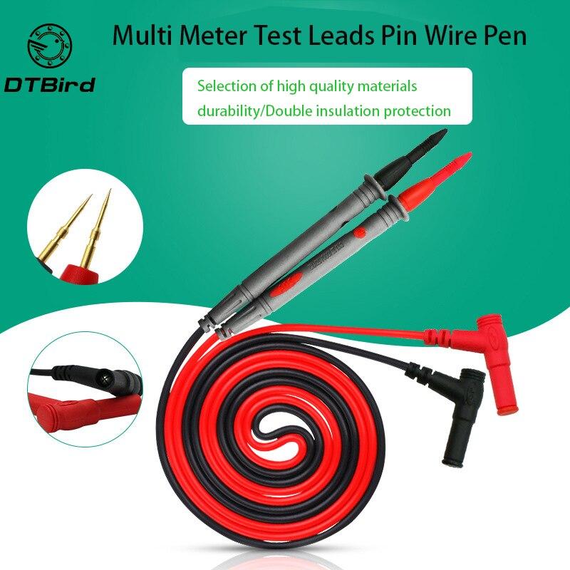 цена на 10v 20v Multi Meter Test Pen Cable 110cm Needle Tip Probe Universal Digital Multimeter Lead Probe Wire Needle