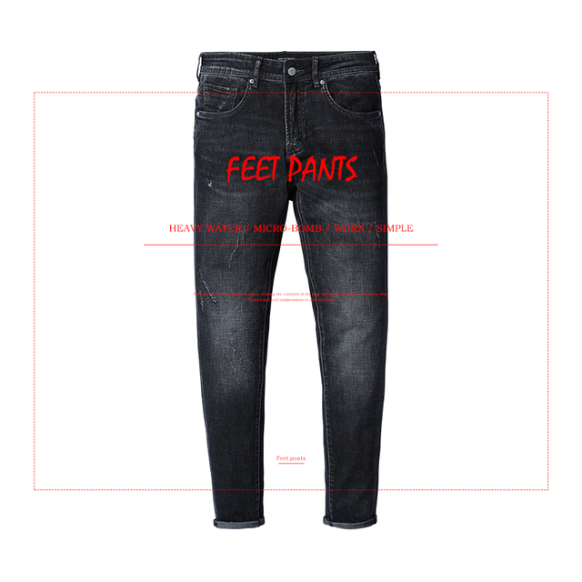 SIMWOOD Brand 2018 Men Jeans New Fashion Casual Jeans Men Slim Jeans Hole Plus Size Long Trousers Hot Sale High Quality 180095