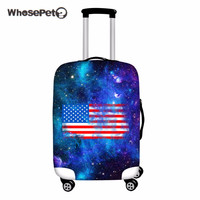 WHOSEPET USA Flag Case Cover Luggage for Trunk Trolley Cool Eagle Covers Protective Suitcase Covers Travel Accessories Wholesale