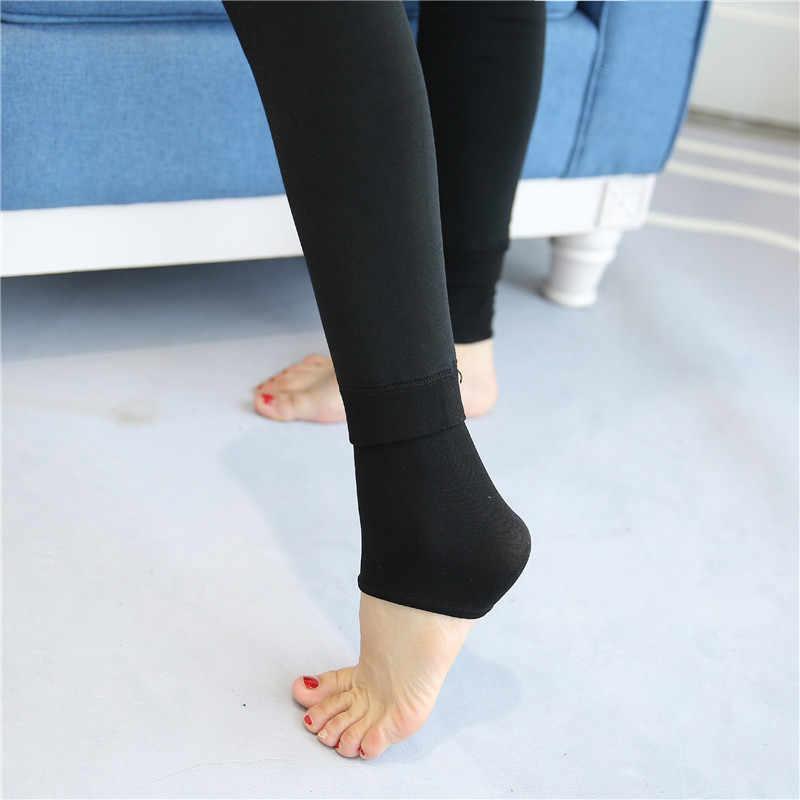 Bonas冬暖かいストッキングタイツ高弾性ウエストベルベットlegins厚手タイツ女性プラスサイズcollant伸縮パンスト