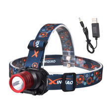 800 Lumens CREE Chip XPE LED Headlight USB Rechargeable Led Headlamp 3 Mode Super Bright Waterproof Head Torch