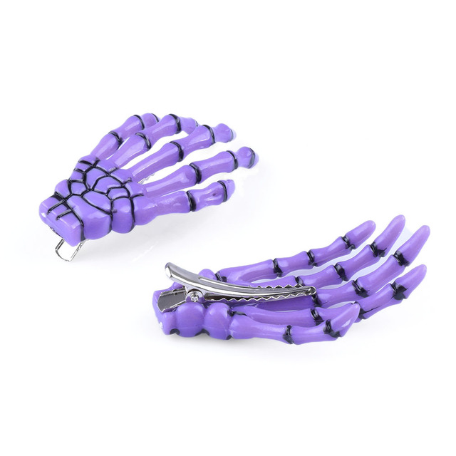 1 pair of Fashion Hair Accessories Skeleton Claws Skull Hand Hair Clip For Women