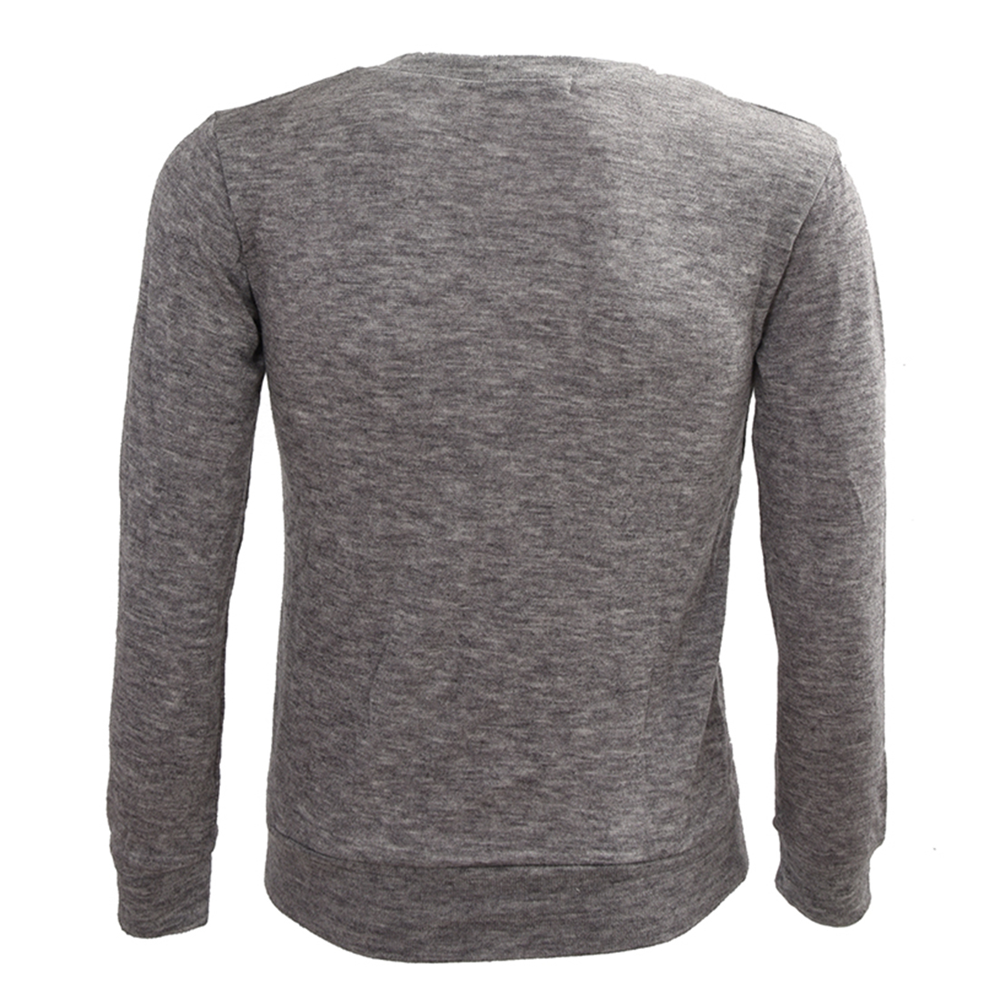 2017 NEW Casual Slim Fit V-neck Knitted Cardigan Pullover Sweater Tops Light Gray