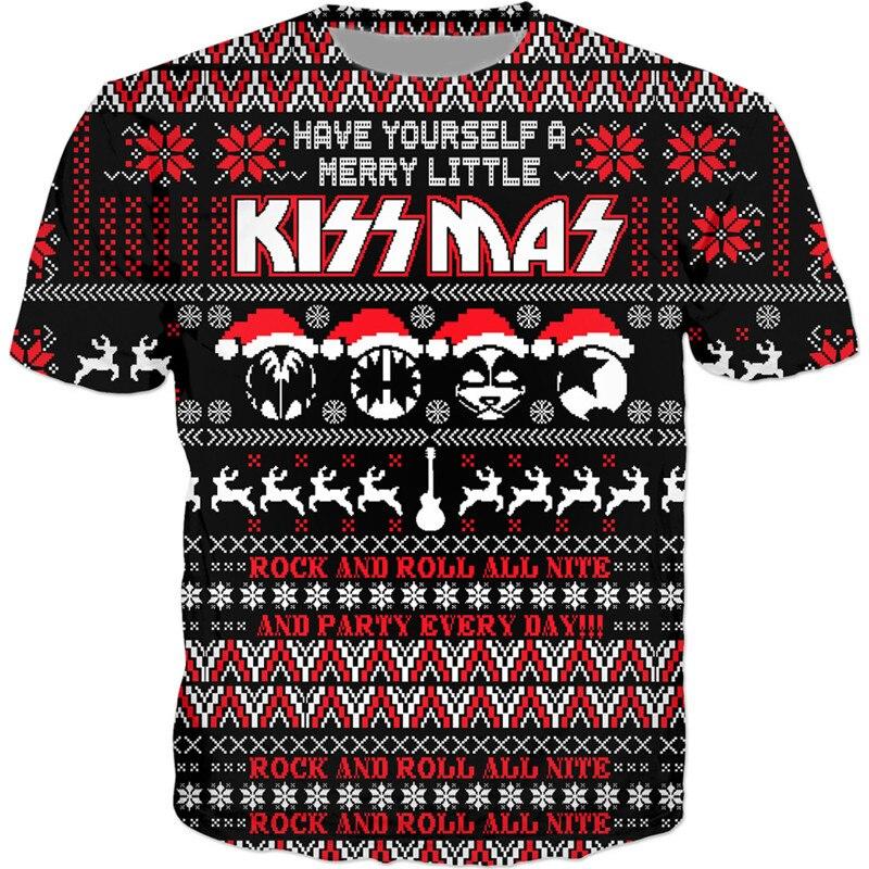 Rock Band T shirt Kiss Clothes Tshirt Tees Tops Clothing Men 3d T-shirt T-shirts Mens Ftness New