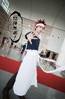 Food Wars! Shokugeki no Soma Yukihira Souma cos Cook work clothes Apron Cosplay Costume custom made