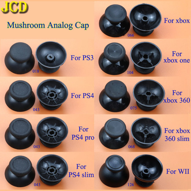 JCD 2 шт. аналоговый джойстик, джойстик, ручка, крышка для Sony PlayStation 3 / 4 PS3 PS4 PR0 Xbox 360 / One контроллер Nintendo