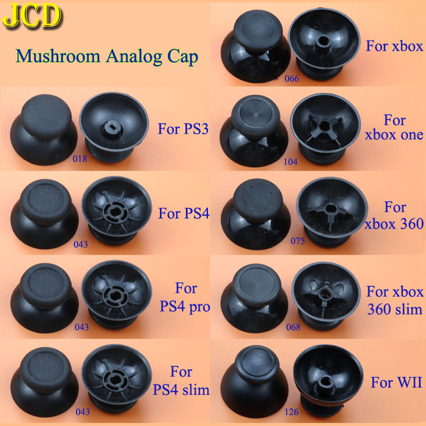 JCD 2pcs Analog  Joystick Stick Grip Cap For Sony PlayStation 3 / 4 PS3 PS4 PR0 Xbox 360 / One WII Controller
