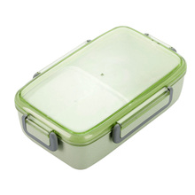 Independent Lattice Office Leak-proof Microwave Safe Lunch Box Portable Bamboo Fiber Bento With Lid Healthy Eco-friendly School