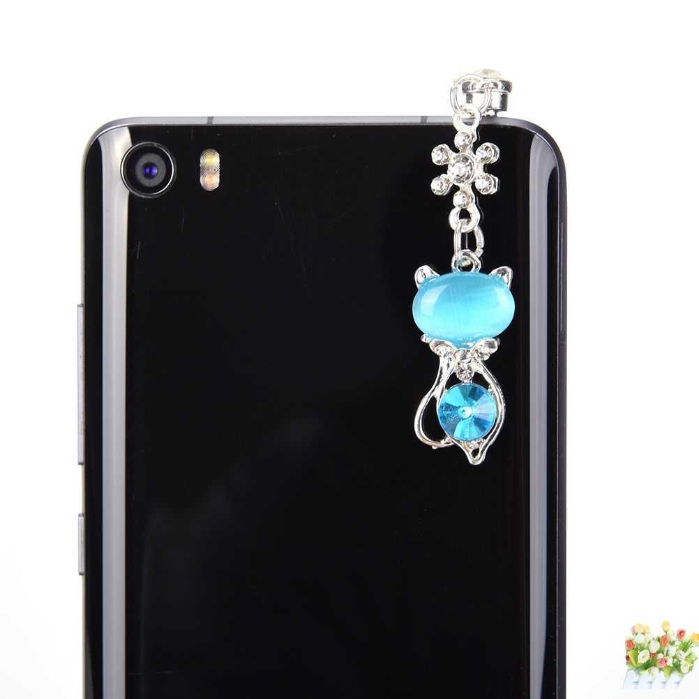 Dachshund Untuk Iphone Untuk Samsung Star cat Pendant 3.5mm Earphone Anti Debu Topi Ponsel Steker Rantai Tahan Debu Steker aksesoris