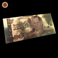 Color Thailand Gold Banknote 1000 Baht Currency Banknotes Paper Money Souvenirs Collection