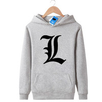 2017 Spring Death Note L Yagami Light Pullovers Hoodie Death Note Killer Cotton Jacket Coat Hoodies