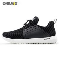ONEMIX Men's Running Shoes 2018 Light Slip on Outdoor Cool Jogging Shoes EVA Women's Sneakers Mesh Outdoor Walking Shoe 1266