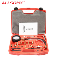 ALLSOME TU 114 140PSI Manometer Fuel Oil Pressure Tester Kit Injection Gauge Gasoline Tool HT2768