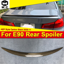For BMW E90 4-door Sedan Trunk spoiler wing P style Carbon fiber 3 series 325i 330i 335i 325d Rear Diffuser wing spoiler 2005-11 цены онлайн
